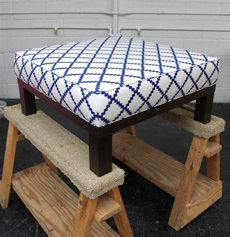 how to upholster an ottoman coffee table upholstery basics boxed ottoman design sponge