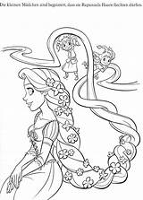 Coloring Rapunzel Pages Disney Printable Tangled Cartoon Print Coloriage sketch template