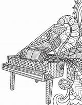 Blank Coloring Piano Zentangle Diary Notebook Colouring Journal Adult Adults Pianos Sheets Mandala Gray Lined Zentangles Drawings Notes Dibujos Trending sketch template