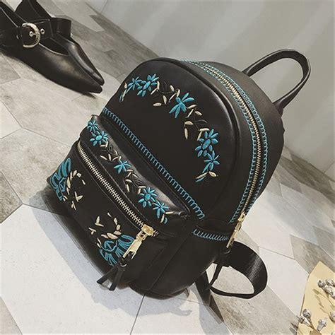 jual tas ransel cantik tas ransel unik tas ransel kulit wanita branded sfbag2475 black di