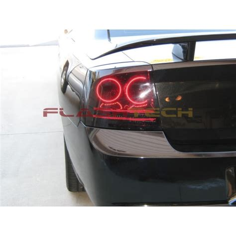 dodge charger white led halo light kit 2005 2007