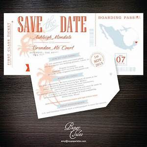 boarding pass and luggage tag dominican republic With destination wedding invitations dominican republic