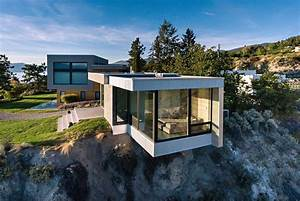 Living On The Edge: A Glass and Concrete Cantilevered