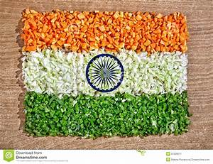 Indian Flag From Chopped Vegetables Stock Image - Image