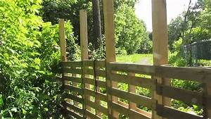 Faire Une Cloture En Bois : mon jardin rona cloture en palettes avec s lego youtube ~ Dallasstarsshop.com Idées de Décoration