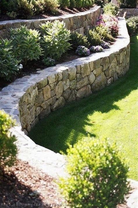 stunning front yard retaining wall landscaping gardening gardendesign gardenideas