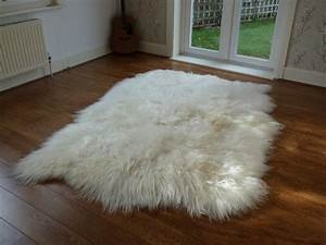 Icelandic sheepskin rug large sheepskin rug natural for Sheep skin rug