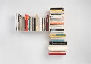 Etagere Murale Livre : tag re asym trique tag re murale t gauche teebooks ~ Teatrodelosmanantiales.com Idées de Décoration
