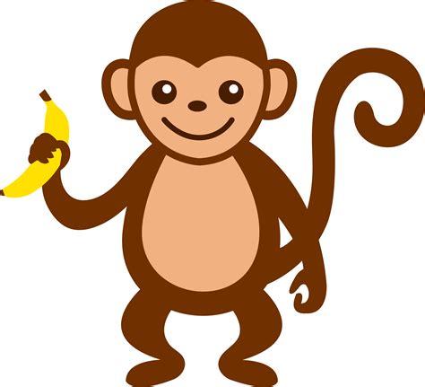 Monkey Clipart Monkey With Banana Free Clip