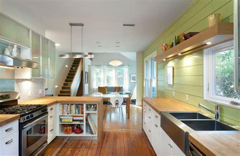 green modern kitchen marvelous butcher block countertop trend 1459