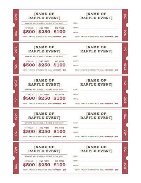 Raffle Ticket Template Raffle Tickets Templates Office Messiah Ideas
