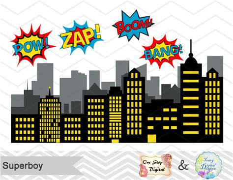 digital superhero clip art superhero digital clipart