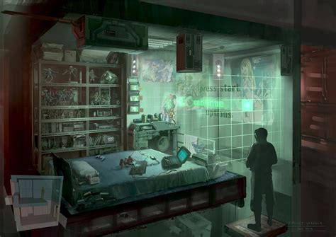 chambre wars decor cyberpunk otaku place bedroom by dsorokin755 on deviantart