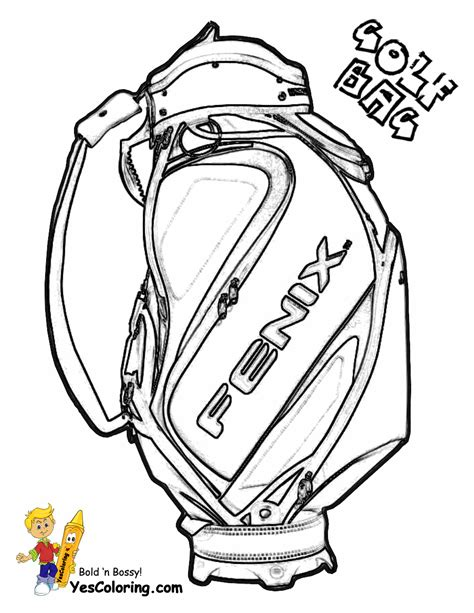 gusto golf coloring pictures golf sports  pga golf
