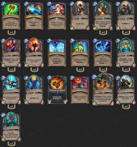 Hearthstone Totem Schamane Deck by Deck Standard Chaman Totem Wotg Loyan Hearthstone