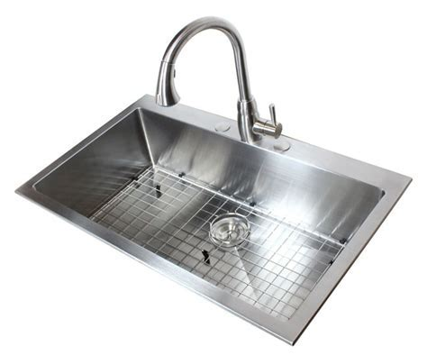 36 Inch Top Mount / Drop In Stainless Steel Single Bowl