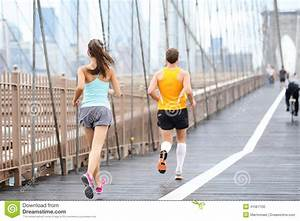 Running People Jogging In New York City Stock Photo ...