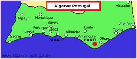 algarve karte algarve portugalde