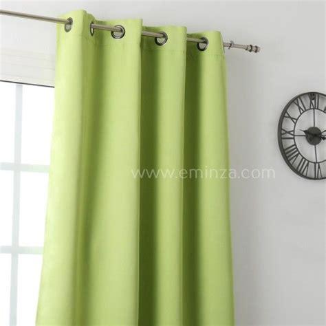rideau vert anis rideau occultant 135 x h250 cm notte vert anis rideau