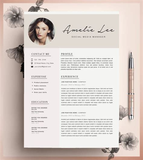 creative resume template cv template instant