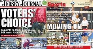 Jersey Journal front and back page news: Tuesday, Nov. 5 ...