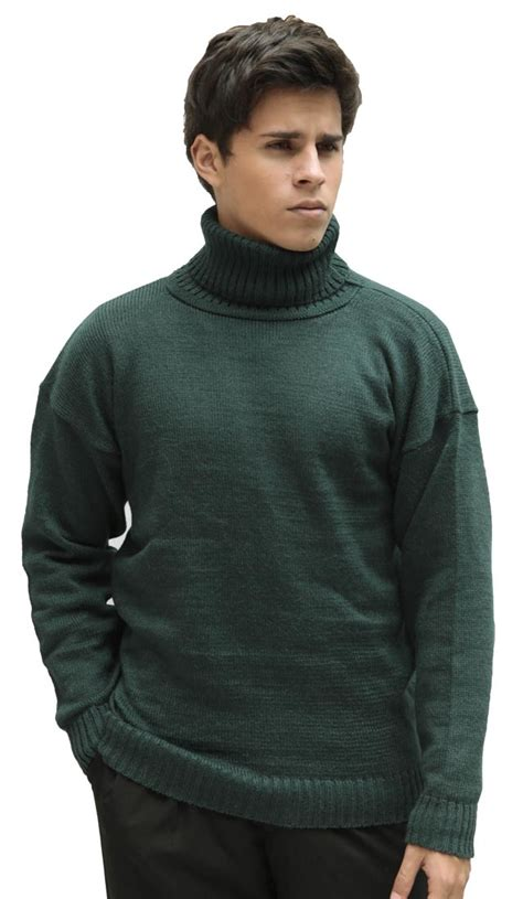 mens wool turtleneck sweater 39 s alpaca wool knitted turtleneck solid sweater ebay