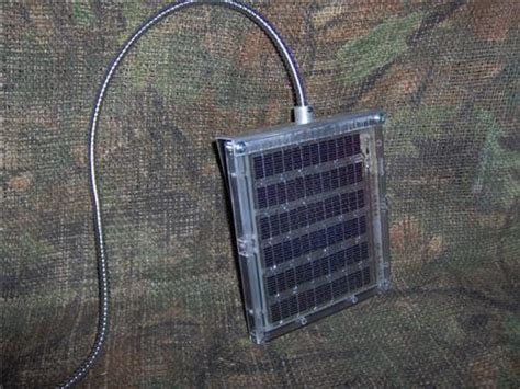 deer feeder solar panel shadetree outdoors
