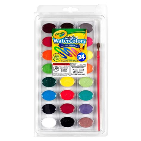 crayola watercolors pan set