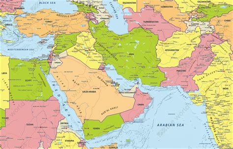 digital political map middle east   world  mapscom