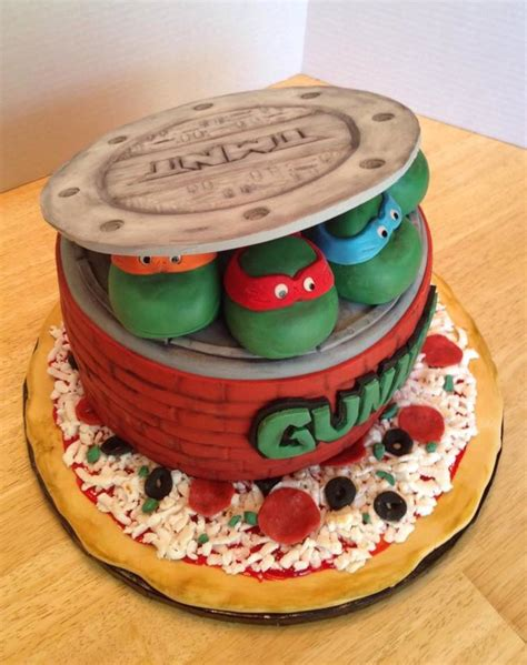teenage mutant ninja turtle cake cakecentralcom