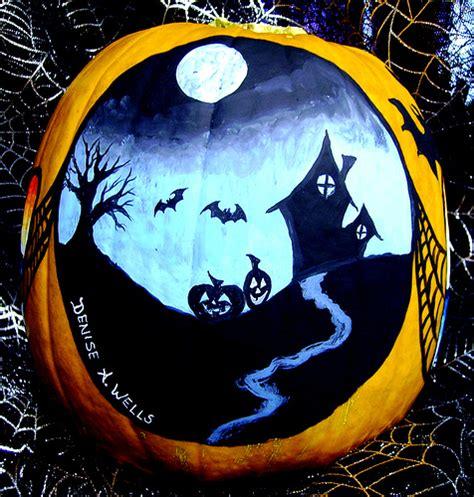 cool painted pumpkins halloween facebook banner pumpkin paintings denise a wells halloween facebook banner