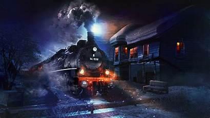 Train Night Smoke 1080p Background Fhd Hdtv