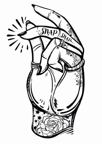 Pop Rock Drawing Roll Coloring Pages Hand