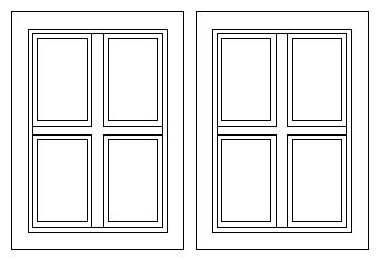 double sliding window dwg block  autocad designs cad