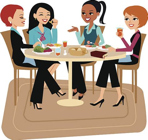 12667 business lunch meeting clipart royalty free lunch clip vector images