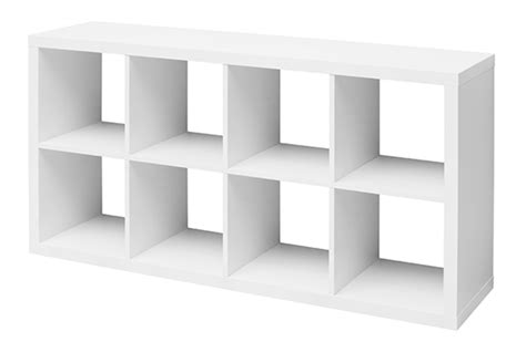 rangements bureau etagère 8 cubes emilie blanc