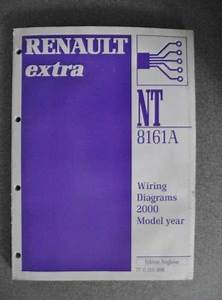 U00a324 99 Renault Extra Wiring Diagrams Workshop Manual 2000