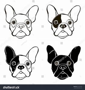 French Bulldog Vector Set Bulldogs Face Stock Vector ...