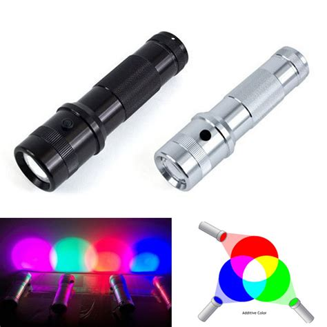 color led flashlight 2017 new colorshine color changing rgb led flashlight 3w