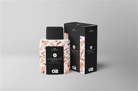 Including multiple different psd mockup templates like cardboard box, cosmetics, coffee cup/mug, shopping bag, car and van mockups. Free Realistic Cosmetic Bottle Mockup | Mockuptree