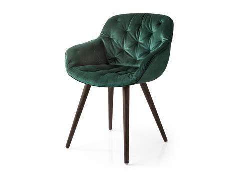 chaise capitonn tufted velvet chair igloo by calligaris design edi e