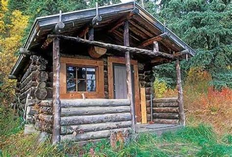 rustic hunting cabin   sights
