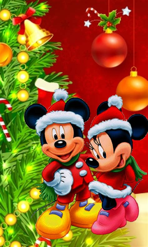 download mickey and minnie christmas wallpaper gallery