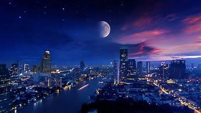 4k Lights Moon Vibrant Wallpapers Ellysiumn Deviantart