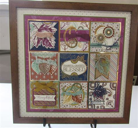 personally  wow framed stampin  samples