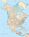 Map of North America   Maps of the USA, Canada and Mexico