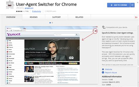 agent switcher user chrome mobile checkout process better testing tool seo