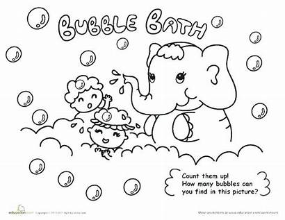 Coloring Hygiene Bubble Bath Pages Personal Washing