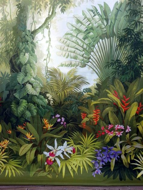 bathroom designs ideas panel curtain jungle flowers boho style dschungel