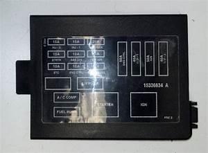 93 Firebird Fuse Box Cover 15336634